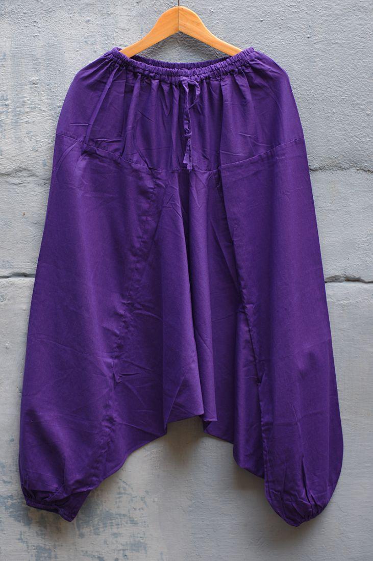 Фиолетовые мужские штаны афгани (отправка из Индии)