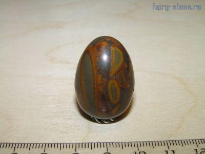 Яйцо из камня яшма бамбуковая (роговик пятнистый)  (29мм)