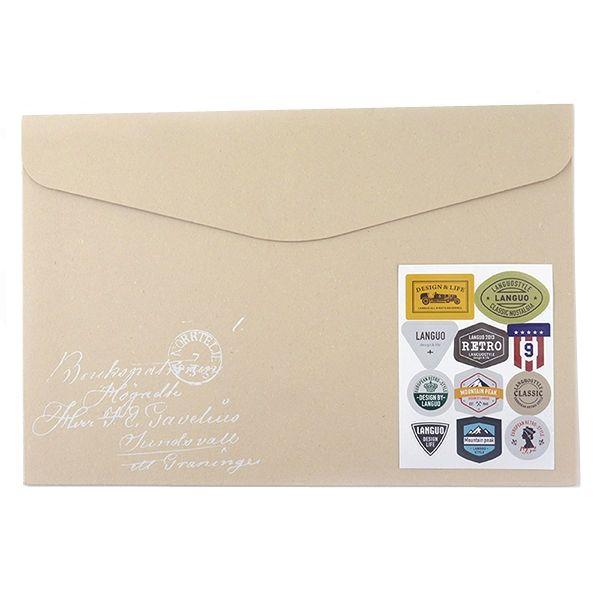"""Папка-конверт """"Label Folder"""" - Ivory"""