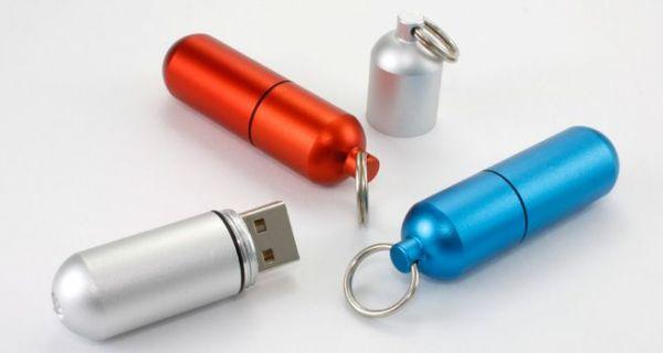 4GB USB-флэш накопитель Apexto U505D, Капсула серебристая