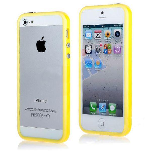 Бампер для iphone 5c (желтый)