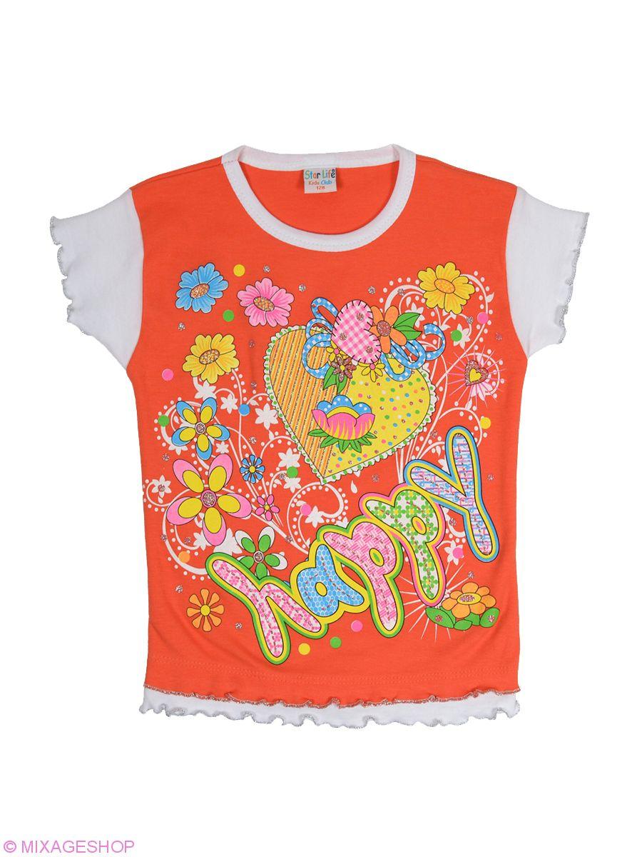 Трикотажная футболка темно-оранжевого цвета
