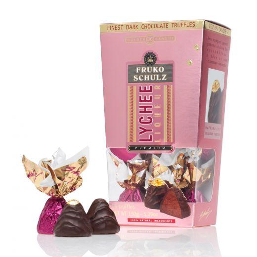 Конфеты шоколадные Трюфели Golden Candies с ликёром Фруко Шульц Личи - 150 г (Россия)