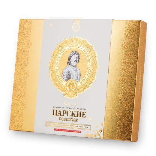 Конфеты шоколадные Трюфели Golden Candies Царские Золотые - 240 г (Россия)
