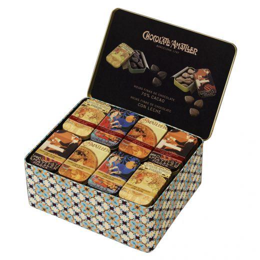 Лепестки шоколадные Amatller из горького и молочного шоколада в наборе 40x30g - 1,2 кг (Испания)