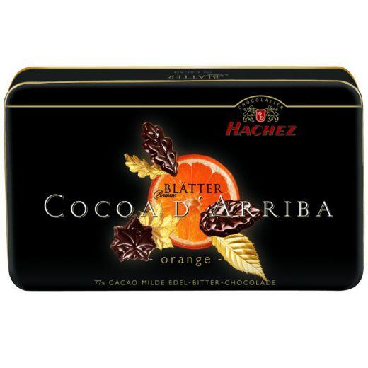 Лепестки шоколадные Hachez с Апельсином 77% - 150 г (Германия)