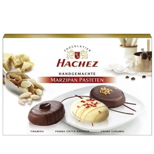 Марципан Hachez 3 вкуса в шоколаде - 100 г (Германия)