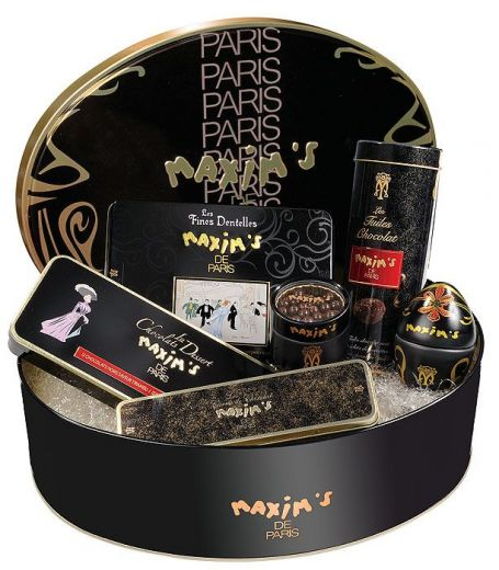Набор подарочный Maxim`s 100% тёмный шоколад - 545 г (Франция)