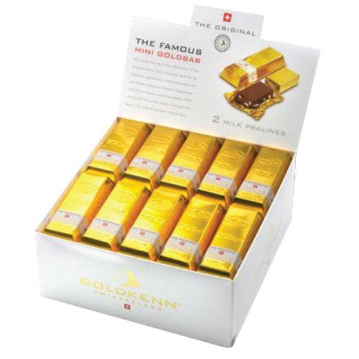 Набор шоколада Goldkenn Чистое Золото молочный c пралине 50x20g - 1 кг (Швейцария)