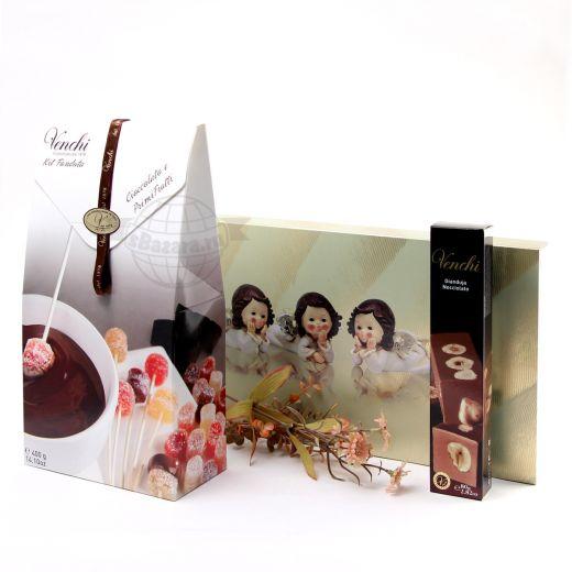 Подарочный набор шоколада и конфет Venchi Angels Fonduta (Италия)