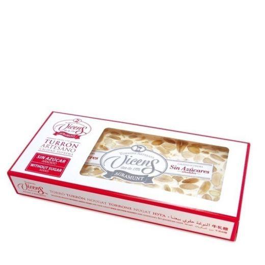 Туррон Vicens твердый с миндалем без сахара - 300 г (Испания)