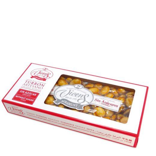 Туррон Vicens твердый с миндалём в карамели без сахара - 300 г (Испания)