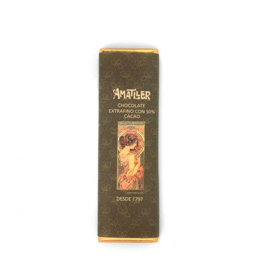 Шоколад Amatller Горький 50% какао 10 шт по 18 г (Испания)