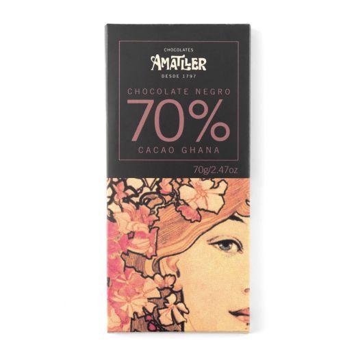 Шоколад Amatller Горький 70% какао, Гана - 70 г (Испания)