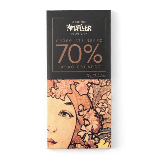 Шоколад Amatller Горький 70% какао, Эквадор - 70 г (Испания)