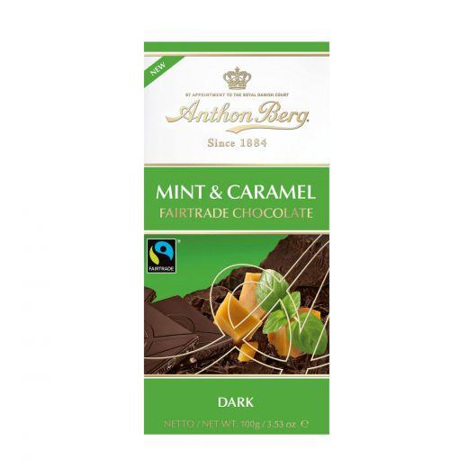 Шоколад Anthon Berg с мятной карамелью - 100 г (Дания)