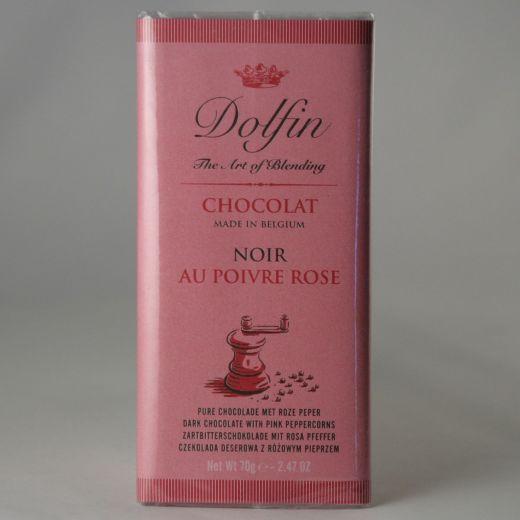 Шоколад Dolfin Горький с розовым перцем - 70 г (Бельгия)