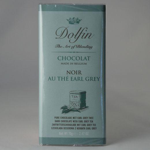 Шоколад Dolfin Горький с чаем Эрл Грей - 70 г (Бельгия)