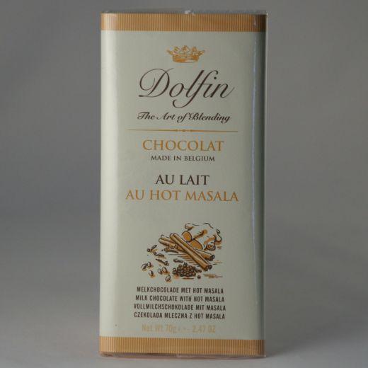 Шоколад Dolfin Молочный с горячей масалой - 70 г (Бельгия)