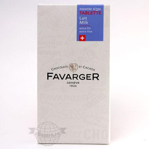 Шоколад Favarger Avelines Молочный - 100 г (Швейцария)