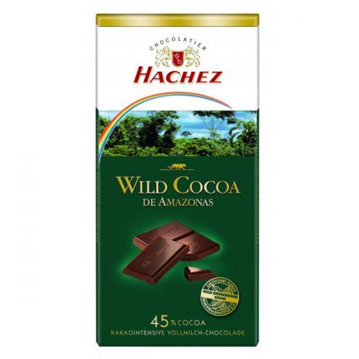 Шоколад Hachez Молочный из диких какао-бобов Амазонии - 100 г (Германия)