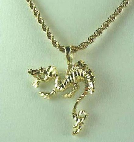 """Дизайнерская позолоченная подвеска """"Дракон"""" с крученой цепочкой (арт. 160194)"""