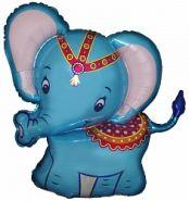 """Слонёнок синий, 32""""/82 см"""