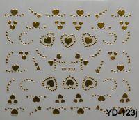 """Наклейка для дизайна ногтей на клеевой основе """"Золото"""", YD-123j"""