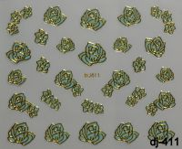 """Наклейка для дизайна ногтей на клеевой основе """"Бирюза"""", Dj-411"""