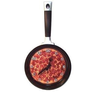 """Часы-сковородка """"Пица"""""""