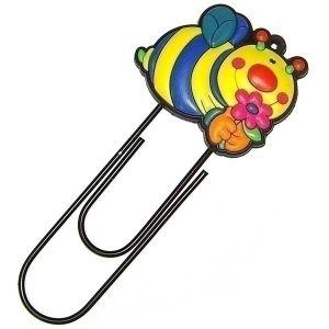 Закладка-скрепка Пчела (12см.)