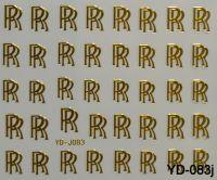 """Наклейка для дизайна ногтей на клеевой основе """"Золото"""", YD-083j"""