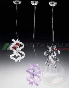 Люстра METALLUX 206.501.02 хром/белый 3 vetri