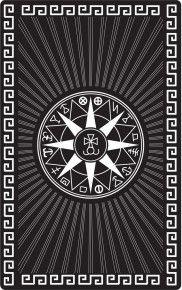 """Магическая карта """"Каббалистический круг меркурия"""", 90х57 мм, сталь с покрытием"""