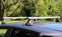 Багажник на крышу Mazda CX-7, Атлант, аэродинамические дуги, опора E