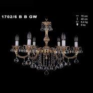 Люстра IVELE 1702/6B/GB черное зол.