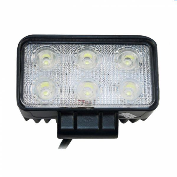 Прямоугольная cветодиодная LED фара рабочего света 18W (ПТФ)