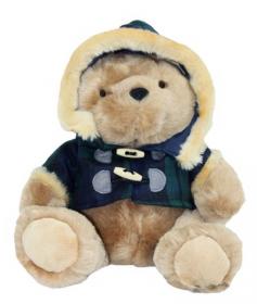 Шотландский плюшевый медведь в тартановом пальто- граф Ричард из королевского полка Блэкуотч