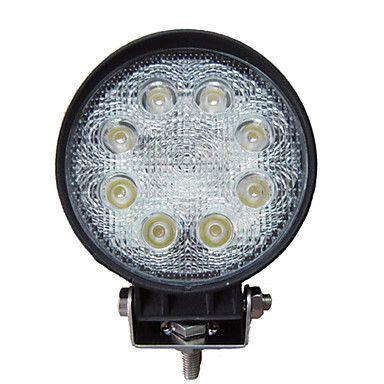 Круглая светодиодная LED фара рабочего света 24W