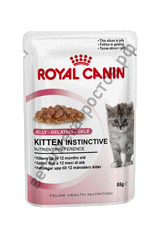 Royal Canin для котят Kitten Instinctive в желе, пауч 85 гр. уп. 12 шт.