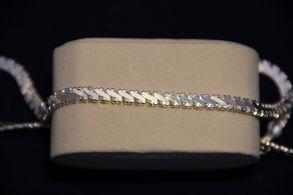 Стильная посеребренная стерлинговым серебром цепочка, 5 мм