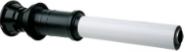 Вертик. наконечник для коакс. трубы полипропиленовый, диам. 80/125 мм, HT  KHG 71409351