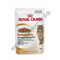 Royal Canin для кошек Intense Beauty в желе, пауч 85 гр. уп. 12 шт.