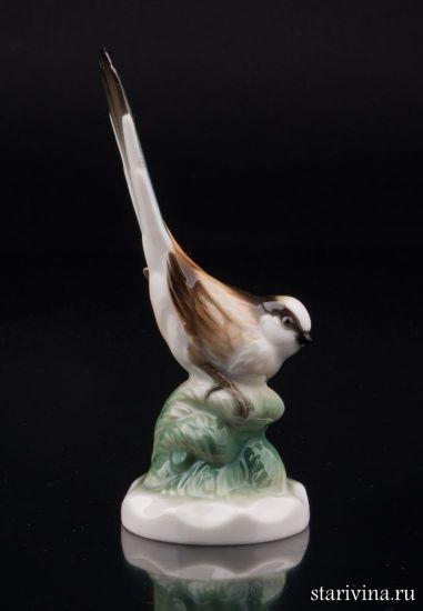 Длиннохвостая синица, миниатюра, Hutschenreuther, Германия.