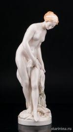 После купания, обнаженная девушка, Karl Ens, Германия, 1920-30 гг