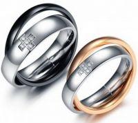 Сдвоенные обручальные кольца 370ST034NT-M