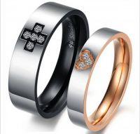 Венчальные кольца с цирконами