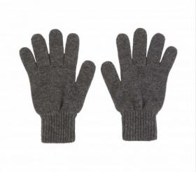 кашемировые перчатки женские (100% драгоценный кашемир) , цвет Серый Mid Grey