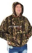 """Куртка """"толстовка-кенгуру"""", флис, камуфляж лес"""