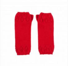 кашемировые митенки  (100% драгоценный кашемир) , красный цвет Кардинал